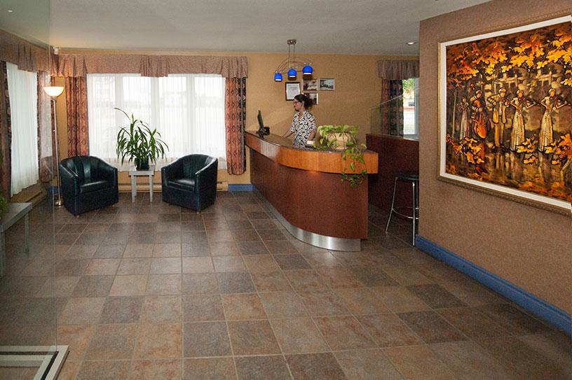 Réception motel Boréal